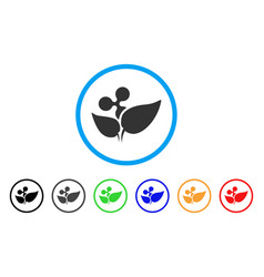 Ripple startup sprout rounded icon vector