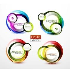 Round swirl banners vector image
