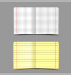 school notebook gray background vector image