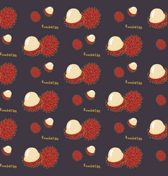 Seamless pattern of exotic tropical fruit vector