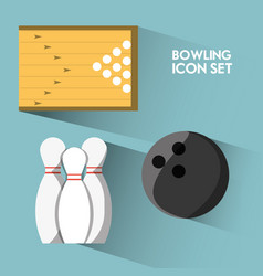 Set concept icon bowling sport vector