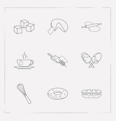 Set of bakery icons line style symbols with vector