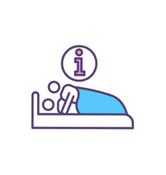 Sexual relationships rgb color icon vector