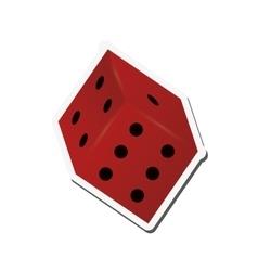 Single dice icon vector