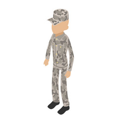 soldier overland icon isometric 3d style vector image