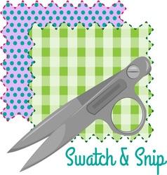 Swatch snip vector