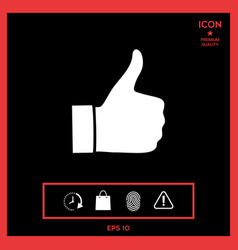thumb up gesture - icon vector image