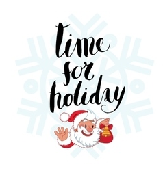 Time for holiday lettering vector