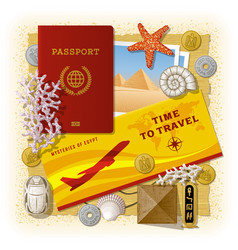 Time to travel concept vacation in egypt vector