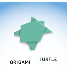 Turtle origami vector image