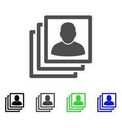 User accounts flat icon vector