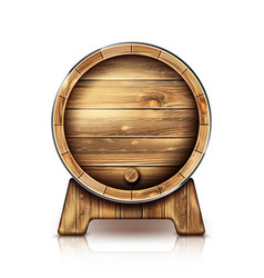 wooden barrel for wine or beer on stand vector image