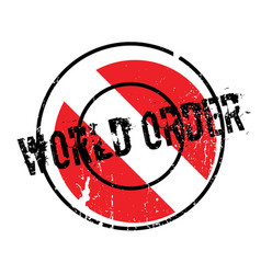 World order rubber stamp vector