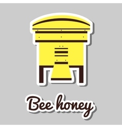 Yellow Bee House vector image