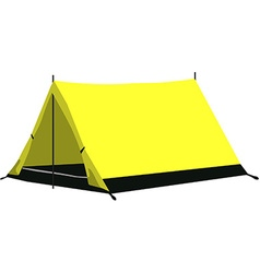 Yellow camping tent vector