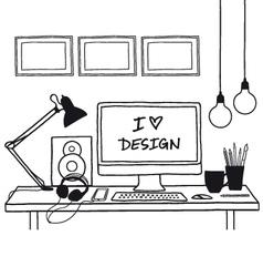 design studio mock up vector image vector image