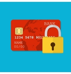 secure credit card vector image
