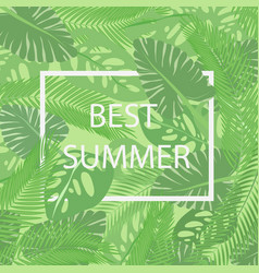 the best summer lettering in a frame on the vector image vector image