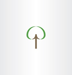 tree sign element icon vector image