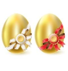 golden chicken eggs vector image