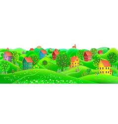 Horizontal summer banner vector image vector image