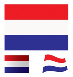 Netherlands flag set vector image