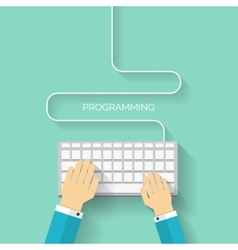 Programming flat cloud computing and social media vector