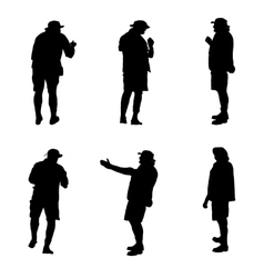 Set of Tourists in a Safari vector image