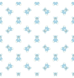 blue bear pattern vector image