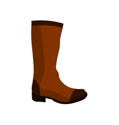 boots icon hight leather on a white background vector image vector image