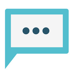 Colorful silhouette image of square dialogue in vector