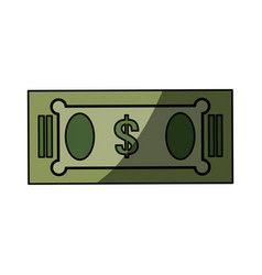 isolated green money bill vector image