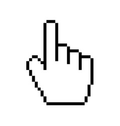 modern hand cursor icon on white background vector image