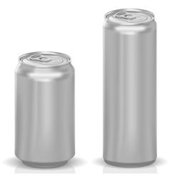 Photorealistic Cans vector image