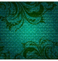 Retro background with antique floral elements vector image vector image