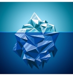 Snow iceberg mountain in polygonal style vector image
