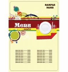 Spanish menu vector image vector image