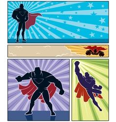 Superhero Banners vector image vector image