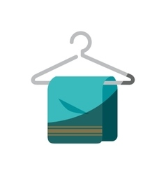 towel hanging in hook isolated icon vector image vector image