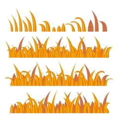 Autumn Grass Constructor on White vector image