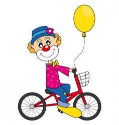 clown bike vector image
