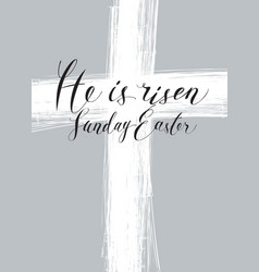 easter banner with cross and inscription vector image vector image