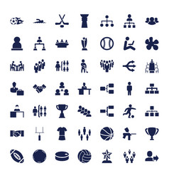 49 team icons vector