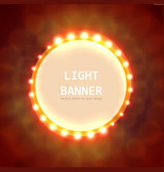 Abstract circle light banner vector