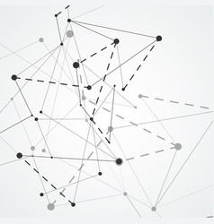 abstract network connections with dots and lines vector image