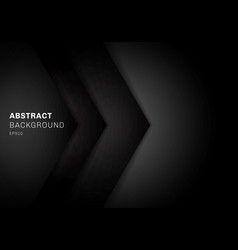 abstract template 3d black triangle with overlap vector image