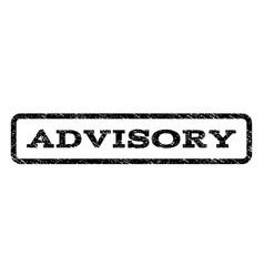 Advisory watermark stamp vector
