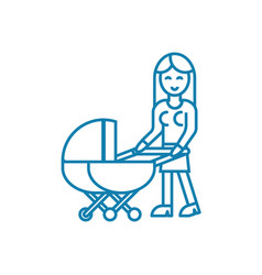 baby care linear icon concept baby care line vector image