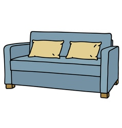 Blue couch vector