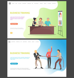 business training people learning new tricks vector image